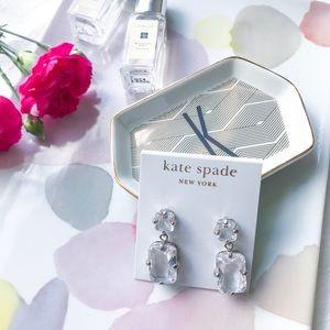 Kate Spade Clear Stone Drop Earrings